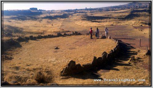 Photo: Intiwatana - Ceremonial Circular Structure Build by the Incas