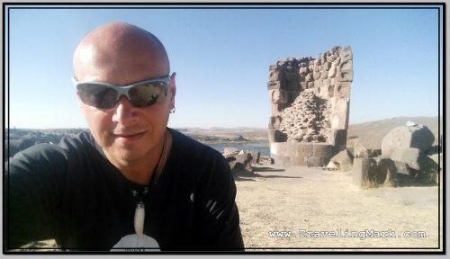 Photo: Selfie at Lizard Chullpa
