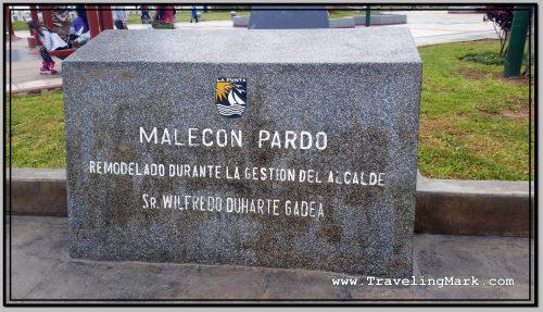 Photo: Malecon Pardo Plaque at La Punta