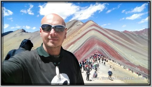Photo: Standing on the Outcrop Adjacent to the Rainbow Mountain