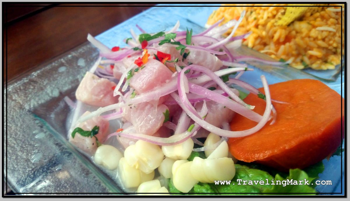 Photo: Peruvian Ceviche Made from Corvina - Chilean Sea Bass