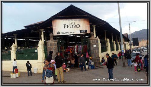 Photo: Main Entrance to San Pedro Market in Cusco