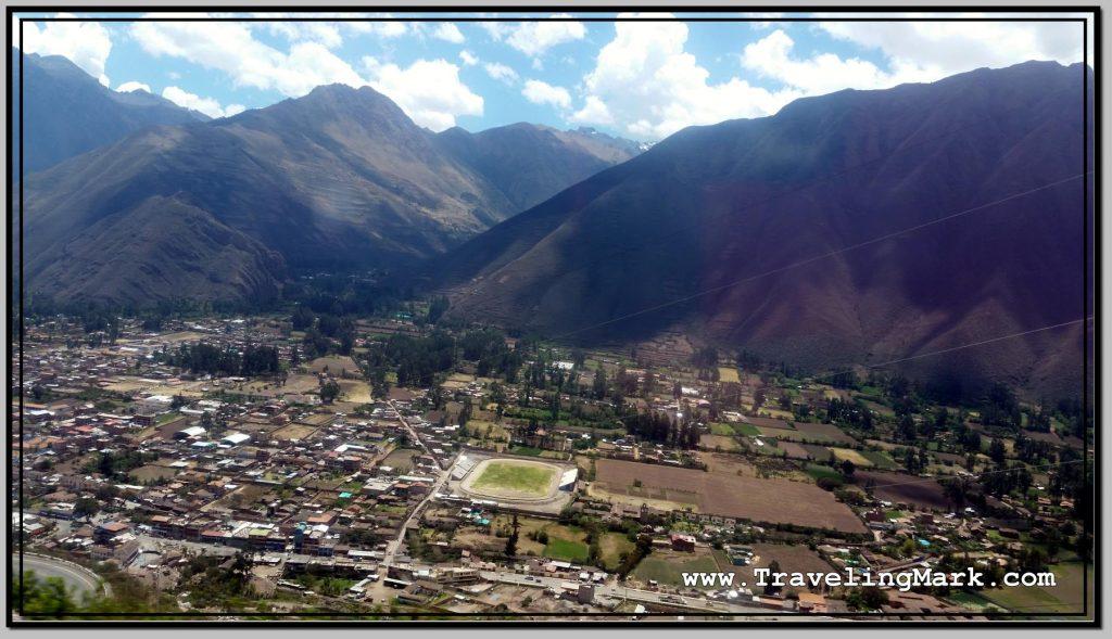 Photo: View of Urubamba in the Urubamba River Valley