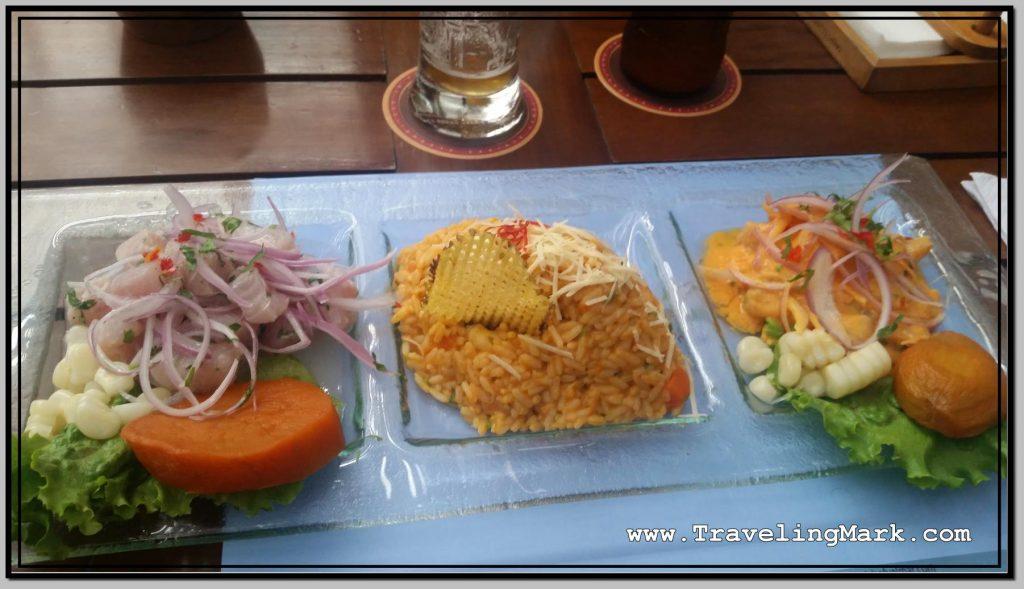 Photo: Triple Ceviche Platter from El Chef y El Mar Restaurant in Lima, Peru