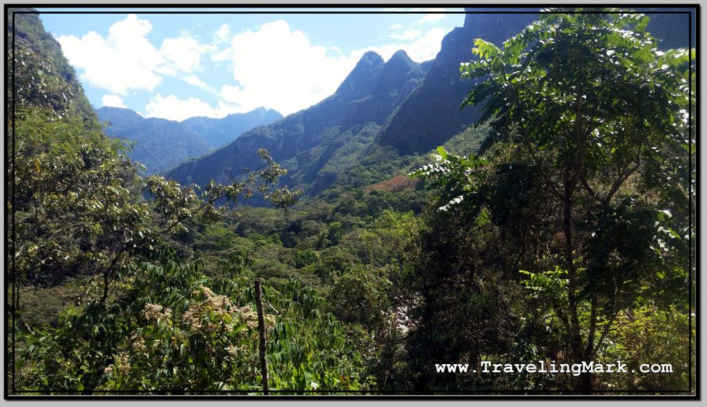 Photo: Hidroelectrica to Aguas Clientes Trail Offers Spectacular Views, But View of Machu Picchu Remains Hidden