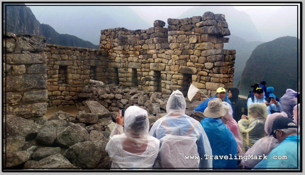 Photo: Collapsing Stone Walls at Machu Picchu