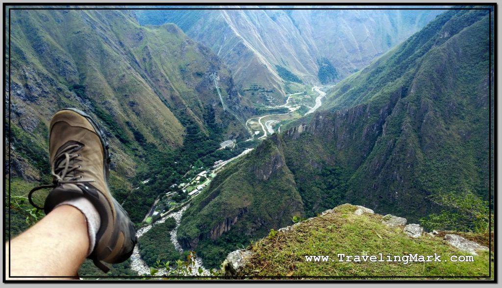 Photo: View of Hidroelectrica from the Inca Bridge
